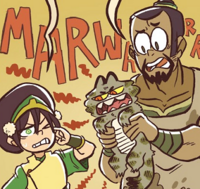 Toph, The Boulder and a difficult pet