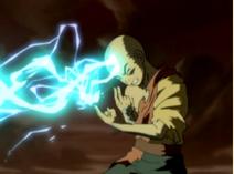 Aang leitet Blitze
