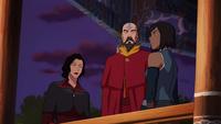 Asami, Tenzin y Korra