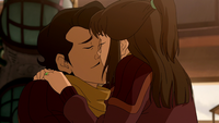 Varrick and Zhu Li kiss
