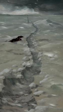 Northern tundra snowstorm