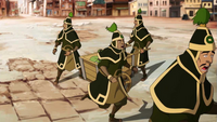 Royal Earthbender Guards flee