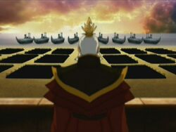 Sozin kijkt naar zijn vloot
