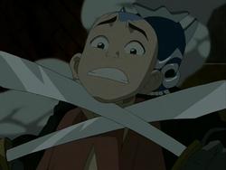 Blue Spirit threatens Aang