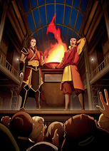 Aang and Zuko in the early days of Republic City
