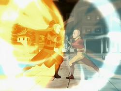 Zuko and Aang duel