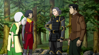 Toph accompanies group