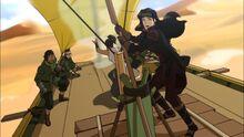 К3х10 Асами управляет песчаной лодкой