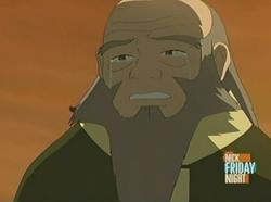 Iroh huilt om zijn zoon
