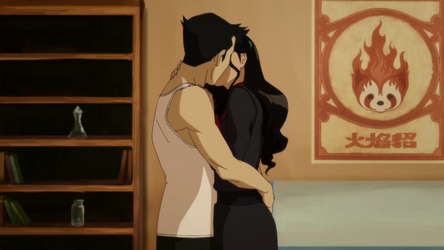 File:Mako and Asami kiss in the apartment.png