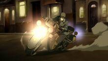 К2х01 Мако на мотоцикле