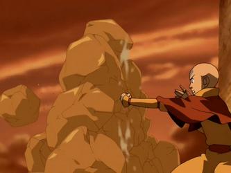 File:Aang creates earth wall.png