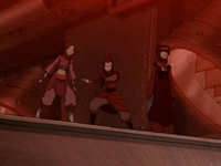 Azula's team inside the drill