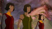 Korra, Opal, and Jinora negotiate