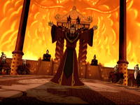 Ozai announcing his plan