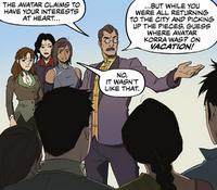 Raiko addressing the refugees