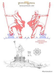 Статуя Аанга арт