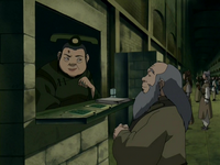 Ticket woman and Iroh