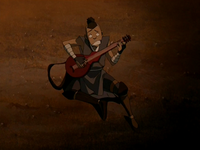 Sokka performing for the badgermoles