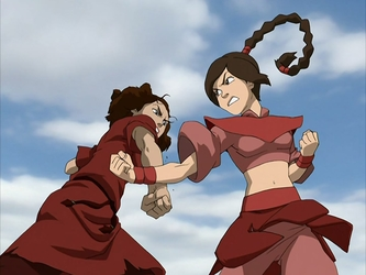 File:Suki and Ty Lee battle.png