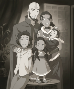 File:Aang, Katara, and their children.png