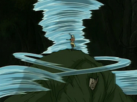 Aang fights Swamp Monster