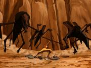 Aang gegen Canyon-Kriecher