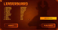 Dangerous Dash leaderboard