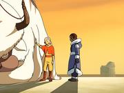 Aang verabschiedet sich von Katara