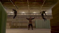 Amon bloodbending Korra and Mako