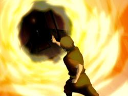 Zuko augmenting fire