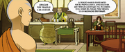 Iroh, Aang y Zuko en el Dragón del Jazmín