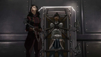 Asami looking for a way out