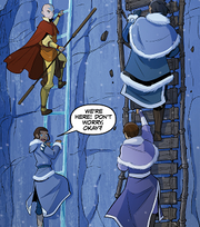 Aang and Katara help Hakoda and Malina