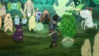 Korra pleading with spirits