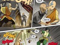 Aang saving a man