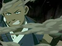 Sokka lucha contra los Dai Li