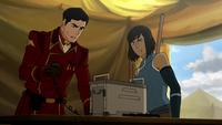 Korra und Iroh im Zelt
