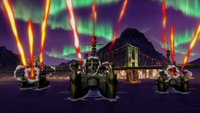 United Forces battleships attack