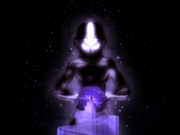 Aang verbindet sich mit kosmischer Energie
