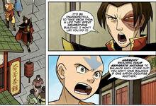 Комикс О1 Аанг спорит с Зуко