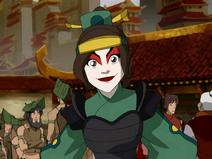 Ty Lee como uma Guerreira Kyoshi