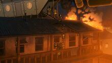 К3х11 Семья бежит пожар