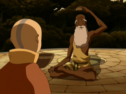 Aang and Guru Pathik
