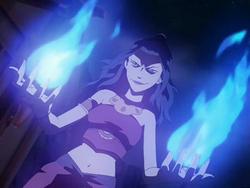 Azula's blue flames