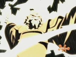 Iroh verwijst bliksem