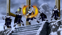 White Lotus sentries bending
