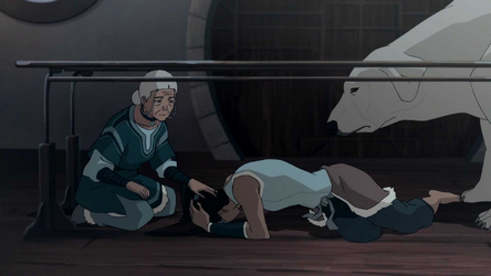 File:Katara, Korra, and Naga.png