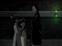 Toph, Katara, and Long Feng