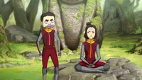 Annoyed Meelo and Jinora